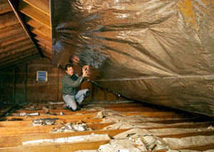 Radiant Barrier Insulation Installation
